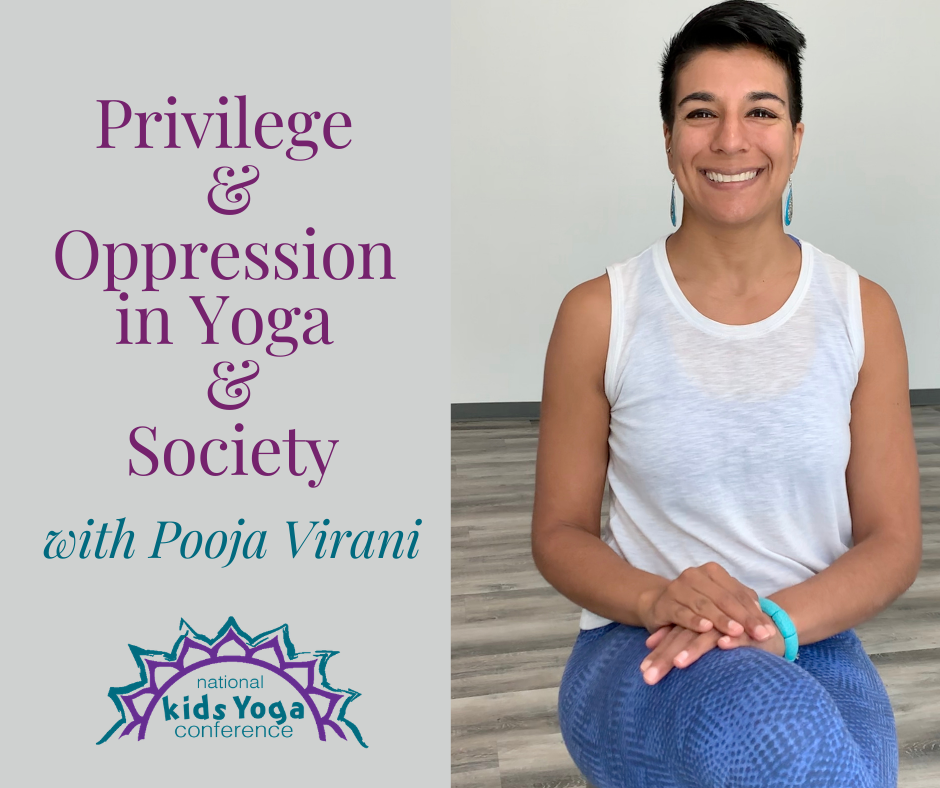 Privilege & Oppression in Yoga & Society - Event Banner - Photo of instructor