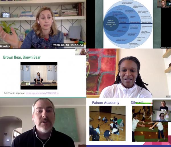screenshots of virtual conference