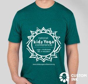 green t-shirt, men's cut