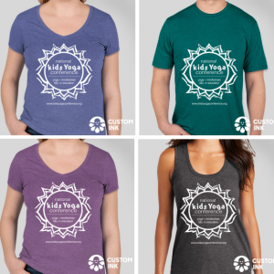 t-shirts blue green purple grey
