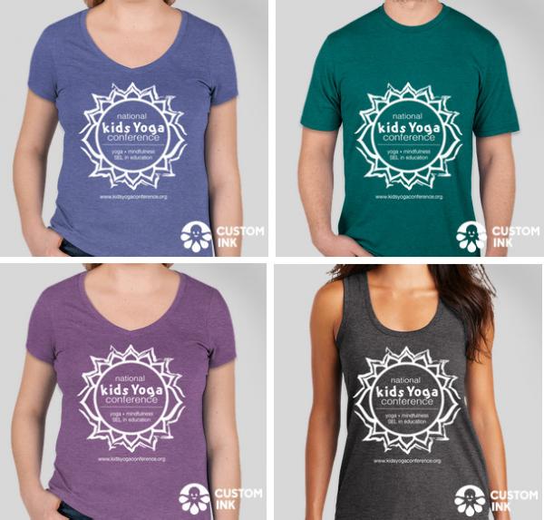 t-shirts blue green purple grey
