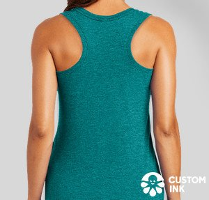 rear view of tank top, green