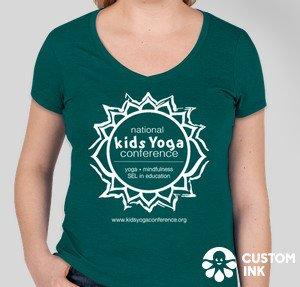 green tshirt with logo, women's cut