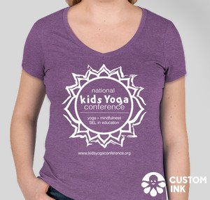 purple t-shirt, women's cut